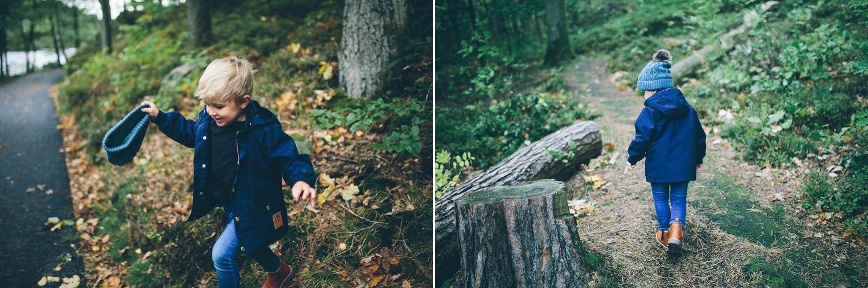 skattjakt i skogen