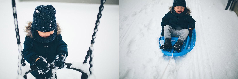 barnfotografering snö